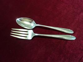 Oneida Heirloom Sterling LASTING SPRING Salad Fork & Teaspoon 70 grams 1949 - $64.34