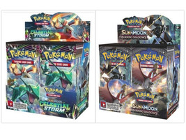 Pokemon TCG Sun & Moon Celestial Storm + Burning Shadows Booster Box Bundle - $209.99