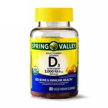 Spring Valley Vitamin D3 Gummies Bones & Immune Health 2000 IU 80 Gummies - $15.60