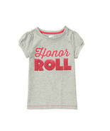Crazy 8 Girls Tee Top Girl Sz S 5 6 Grey Graphic Honor Roll Short Sleeve... - $12.75