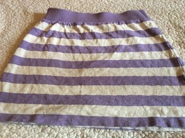Gap kids Girls Purple & White Striped Skirt Sz Large 10 Cute! Free Shipping - $8.99