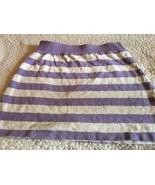 Gap kids Girls Purple & White Striped Skirt Sz Large 10 Cute! Free Shipping - $8.99