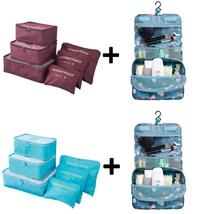 6pcs/set Nylon Packing Cubes + Accessories Organizer/Bag for Travelers - £15.62 GBP