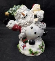 Cracker Barrel Ceramic Snowman Music Box, Christmas Plays Frosty, Origin... - $19.34