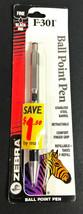 Vtg Zebra F301 Stainless Steel Ballpoint Pen Japan - $12.56
