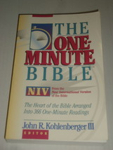 THE ONE MINUTE BIBLE From The New International Version Kohlenberger PB - $5.99