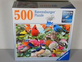 "A BEAUTIFUL, PREMIUM QUALITY, 500pc RAVENSBURGER PUZZLE "" GARDEN BIRDS"" ... - $6.72"