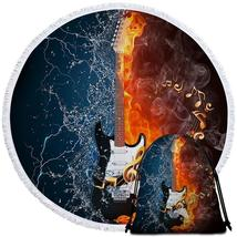 Fire vs Water Electric Guitar Beach Towel - $12.32+