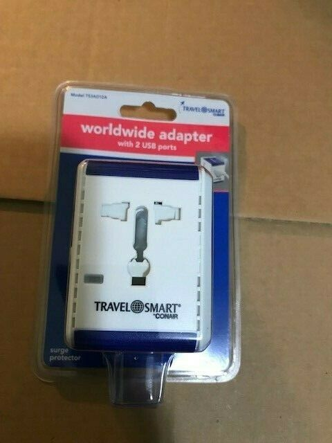 Travel Smart by CONAIR, adapter/converter combo unit Model TS254AD12-Brand New