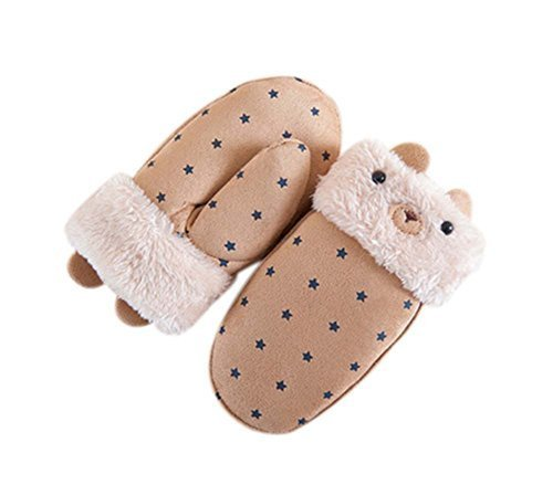 Kids Gloves Plush Gloves Fashionable Gloves Knitted Gloves Warm Winter Mittens