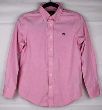 LAUREN Ralph Lauren shirt youth kids design long sleeve cottons pink size 12 - $13.91
