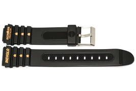 19MM LONG BLACK RUBBER TIMEX IRONMAN TRIATHLON SPORT WATCH BAND STRAP - $11.87
