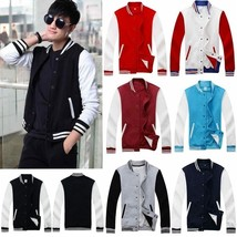 New Men's Casual Premium Varsity Baseball  Jacket College Style Letterman Sweat - $49.98