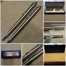 WatermanHÉMISPHÈRE Silver Color Ballpoint Pen Mechanical Pencil Case Ot... - $168.29