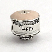 Authentic Pandora Happy Birthday Cake, Enamel and Clear CZ, 792061ENMX, New - $47.49