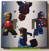 Lego Spiderman ironman captain america Light Switch Power Outlet Cover Plate image 2