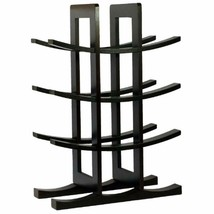 12-Bottle Freestanding Wine Racks & Cabinets Bamboo Rack, Dark Espresso ... - £17.18 GBP