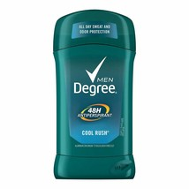 Degree Men's 48 hour ANTIPERSPIRANT DEODORANT, Cool Rush 2.7oz, 6 Pack Sweat Odo image 2
