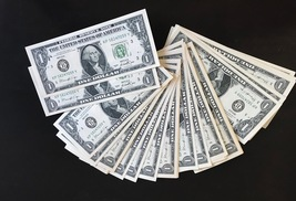 50 Bills Prop Money 100% Replica 1s All Full Print For Movie Video Films Etc. - $19.99