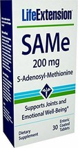 NEW Life Extension Same (S-Adenosyl-Methionine) 200 mg 30 Enteric Coated Tablets - $21.50