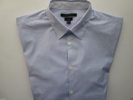 John Varvatos 'Star' USA LUXE Stripe Long SL Men Casual Shirt Blue L (16... - $30.39