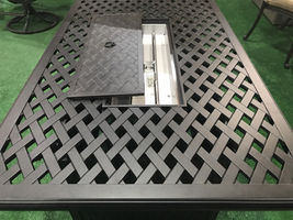 Fire pit coffee table cast aluminum outdoor patio furniture. image 3