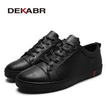 Men Spring Genuine DEKABR Bre 2018 Summer Shoes Arrival Leather Brand Casual New qSWx7AB