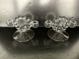 """Vintage Pair Of Imperial Glass Candlewick Candleholders 4 3/4"""" - $20.00"""