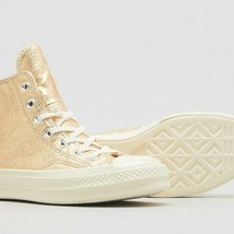 Womens Converse Chuck 70 Metallic Gold Leather High Top 561730C Size 8.5 - $69.99