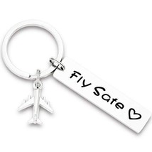 Airplane Keychain Pilot Gifts Fly Safe Keychain Flight Attendant Gifts - $17.36