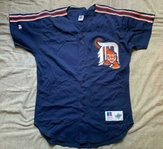 Men's vintage 90's Russell Athletic MLB Detroit Tigers navy blue jersey ... - $44.99