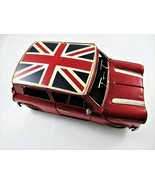Decorative Metal Red Car Retro 1960 Monte Carlo Rally Mini Cooper Britis... - $42.52