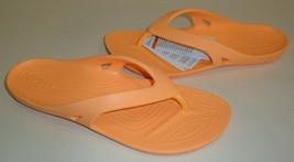 Crocs Size 10 KADEE II FLIP Cantaloupe Flip Flop Sandals New Womens Shoes - $58.41
