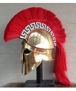 Medieval Wearable Greek Corinthian Helmet Free Leather Liner Knight helmet - $229.00