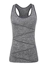 VANIS Women's Yoga Tank Tops Built in Bra Stretchy Activewear Tops Long ... - $23.34