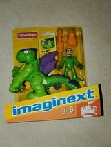 Fisher-Price Imaginext green purple dragon world fortress castle & knight  NEW - $24.99
