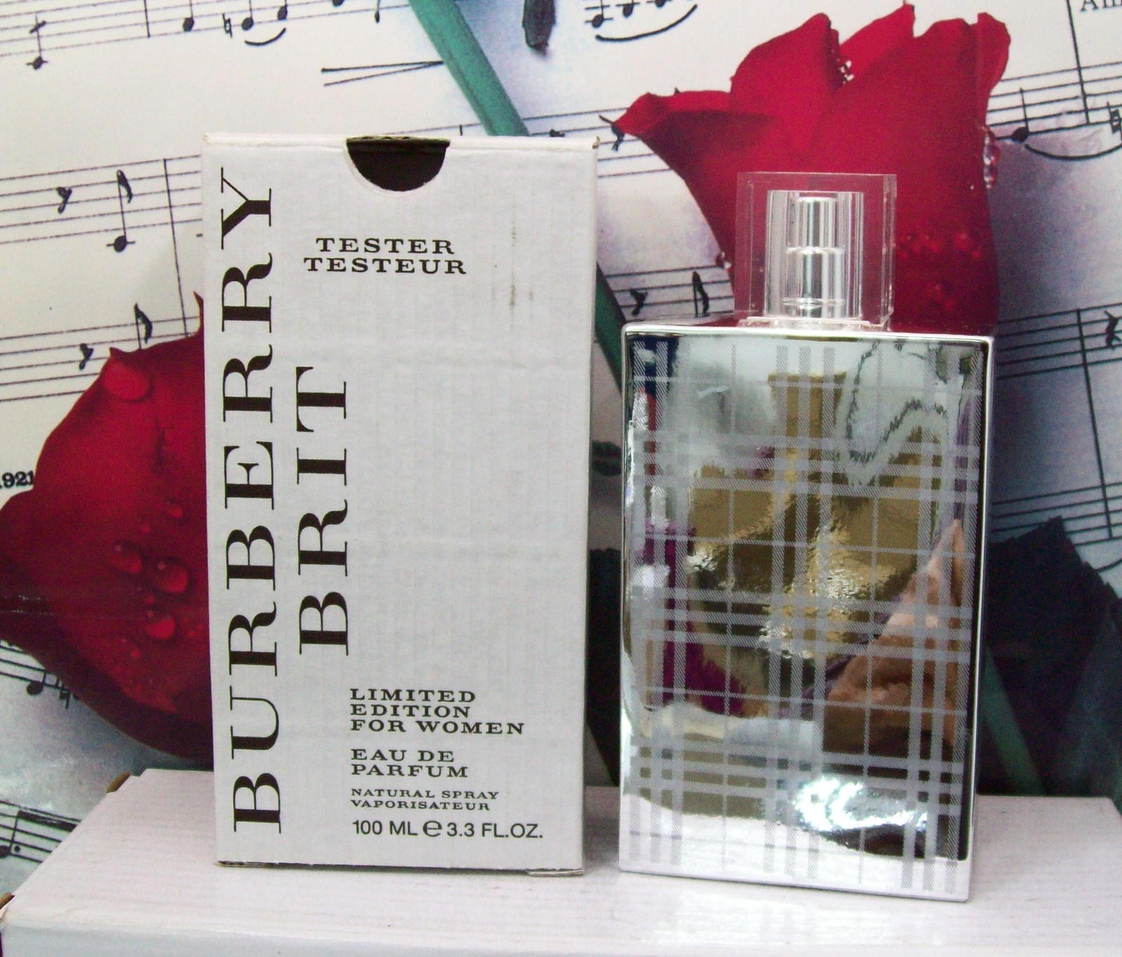 Primary image for Burberry Brit Limited Edition For Women EDP Spray 3.3 FL. OZ. NTWB