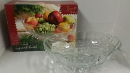 "Home Trends Holiday Oval Crystal Display Bowl 12 1/2"" x 8 1/2"" - $6.53"
