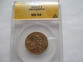 2000 P , Sacagawea / Native American  Dollar , MS 64, ANACS Certified  ,... - $45.00