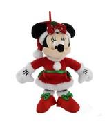 disney parks christmas ornament santa minnie mouse plush new with tag - $22.02