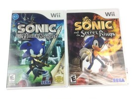 2 Wii Games - Sonic and The Secret Rings - Sonic and The Black Knight - $10.88
