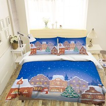 3D Christmas  Xmas 03 Bed Pillowcases Quilt Duvet Cover Set Single Queen King AU - $64.32+