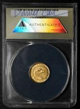RARE 2010 Token Dan Carr Indian Eagle 1/10 GOLD .999 ANACS MS65 Lot A 559 image 2