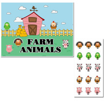 Pin the Farm Animals Birthday Party Game - £15.65 GBP