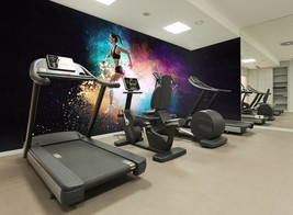 3D Color Running P90 Business Wallpaper Wall Mural Self-adhesive Commerc... - $13.49+