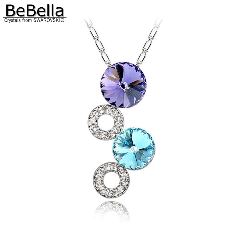 BeBella fantasy bubble pendant necklace Made with Crystals from Swarovski for wo