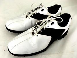 FootJoy Golf Shoes Mens White Countour Srs 11.5 M Leather Saddle 54123  Foot Joy - $41.55