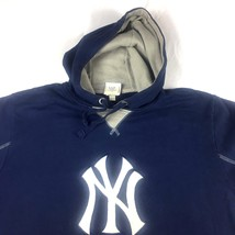 Majestic New York Yankees Sweater Size L  Blue Hoodie Long Sleeve - $29.83