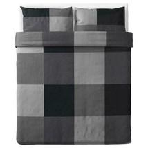 IKEA BRUNKRISSLA Full/Queen Duvet cover Pillowcases Black, Gray, 103.755... - $55.43