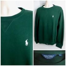 Ralph Lauren Polo Golf Men's Large Green Cotton Blend Golf Sweater New - $39.99